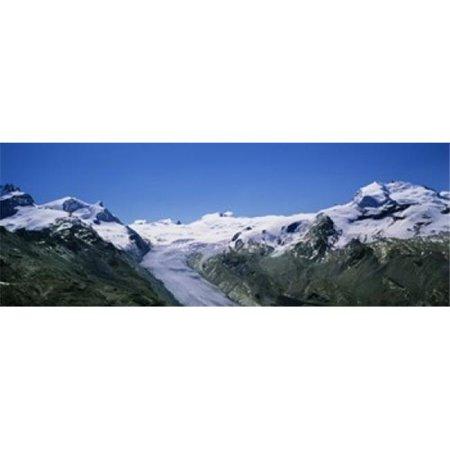 Images panoramiques PPI92193L couvert de neige cha-ne de montagnes avec une affiche Imprimer Matterhorn glacier Suisse par images panoramiques - 36 x 12 - image 1 de 1