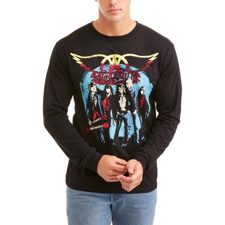 Image of Aerosmith Big Men's Rocks Tour Long Sleeve Graphic Tee With Front and Back Print, 2XL