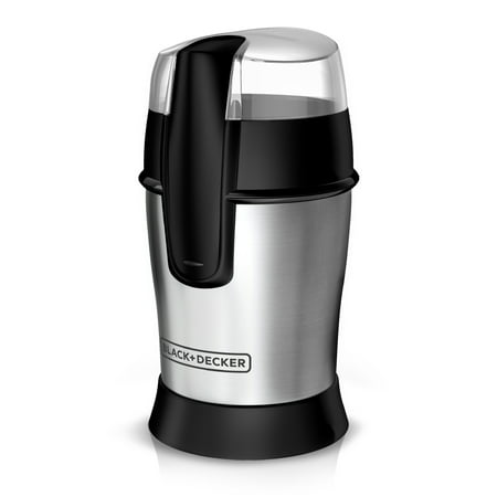 - BLACK+DECKER SmartGrind Coffee Grinder with Stainless Steel Blades, Stainless Steel, CBG100S