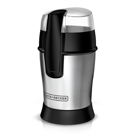 BLACK+DECKER SmartGrind Coffee Grinder with Stainless Steel Blades, Stainless Steel, CBG100S