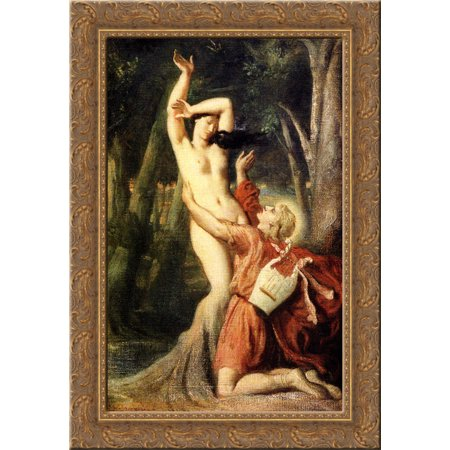 Apollo And Daphne 24X18 Gold Ornate Wood Framed Canvas Art By Theodore Chasseriau