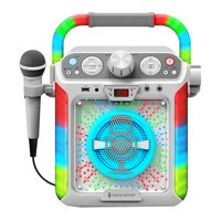Singing Machine - Groove Cube CDG Karaoke System Plus Bluetooth, White