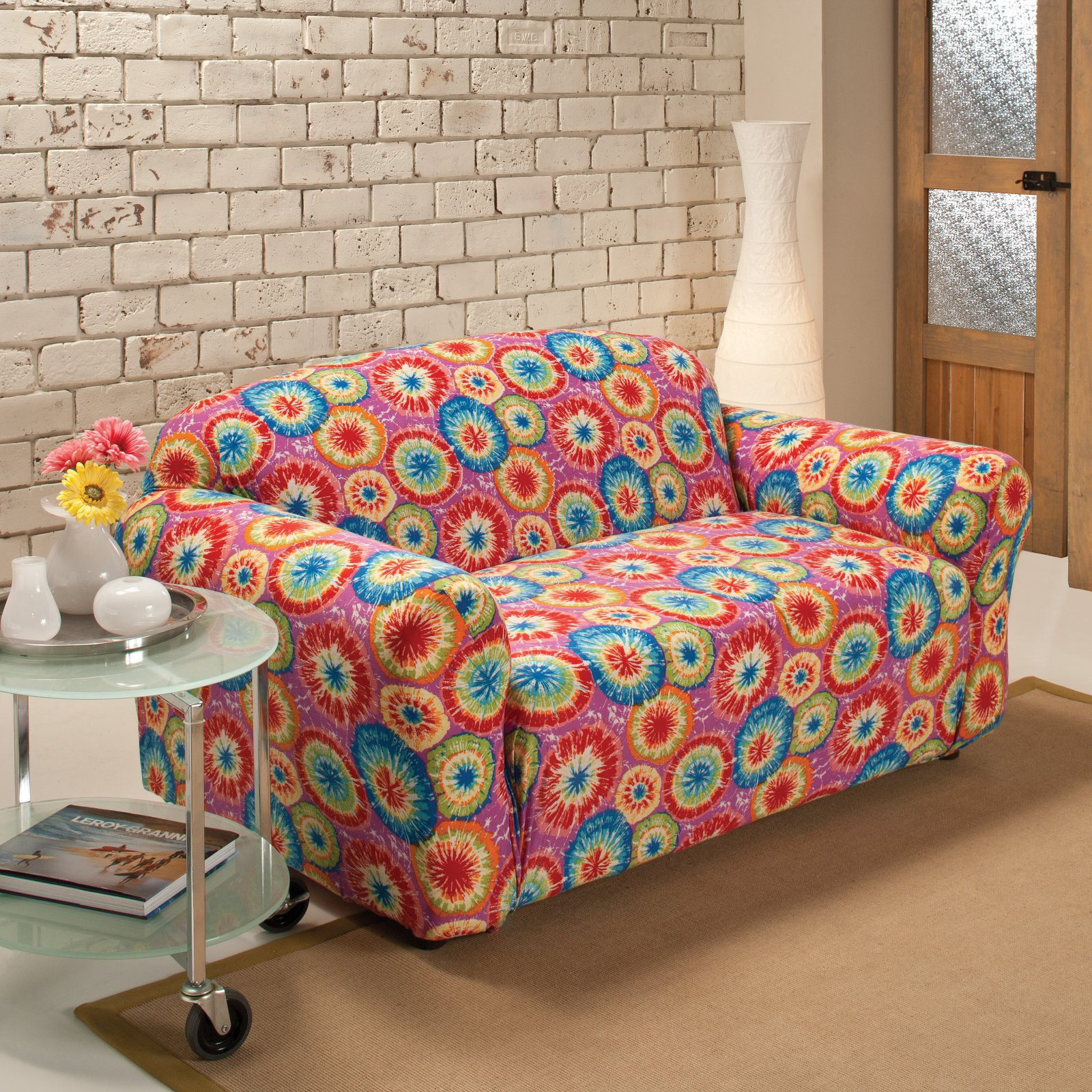 Madison Industries Tie Dye Jersey Loveseat Cover
