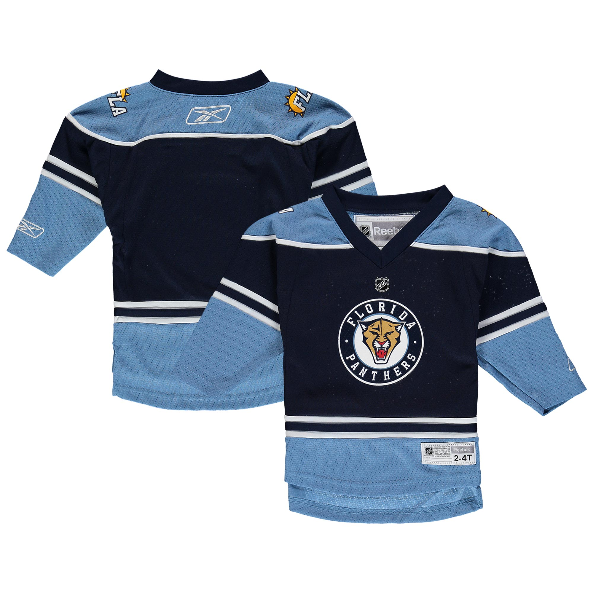 Florida Panthers Reebok Toddler Replica Jersey - Navy - 2T-4T