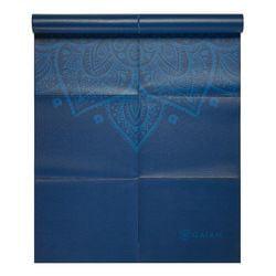 c44cf80034c Gaiam Foldable Yoga Mat, Blue Sundial, 2mm - Walmart.com