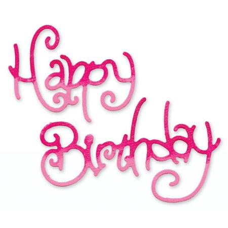 Sizzix Sizzlits Die 3 75 X2 5  Phrase  Happy Birthday  3