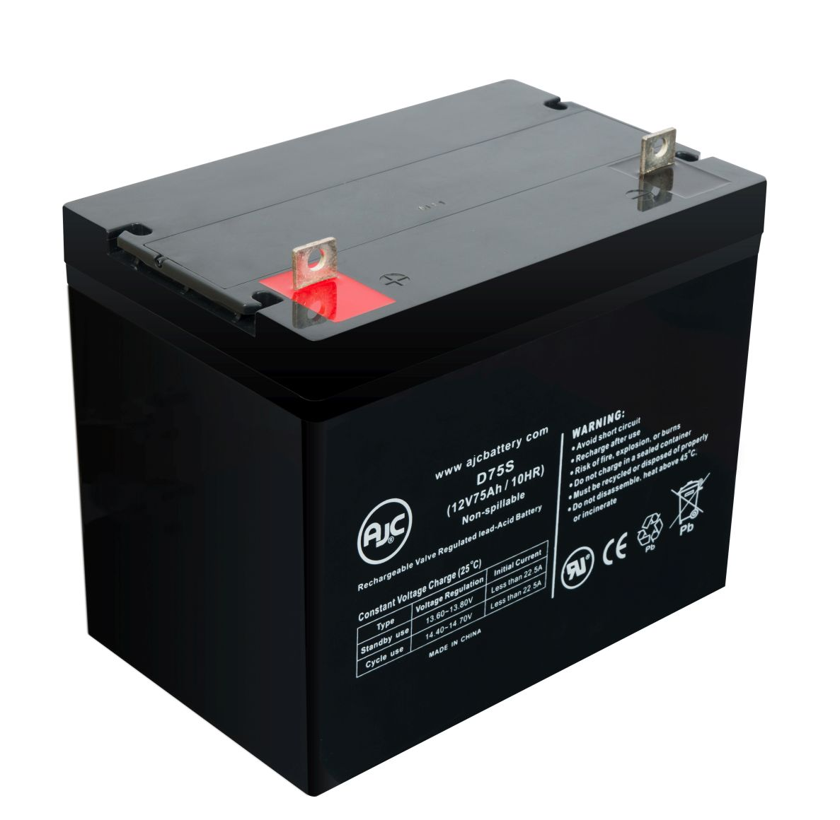 Exide NC-24 12V 75Ah Sealed Lead Acid Battery - This is an AJC Brand® Replacement
