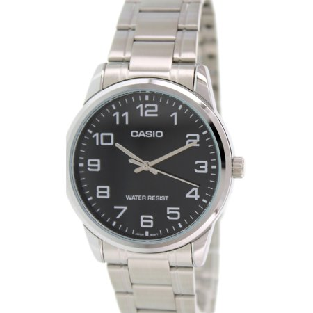 Men's Analog Quartz Water Resistant Stainless Steel Watch MTPV001D-1B ()
