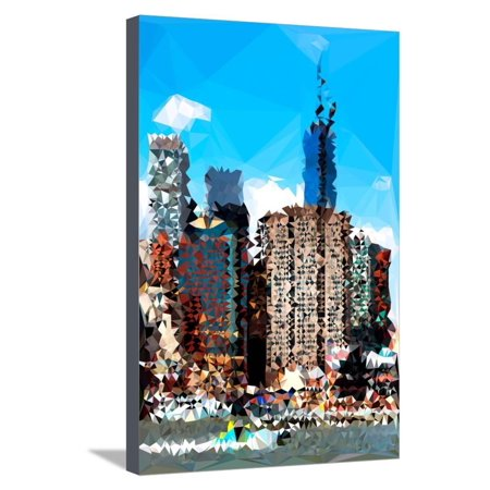 Low Poly New York Art - NYC Touch Stretched Canvas Print Wall Art By Philippe