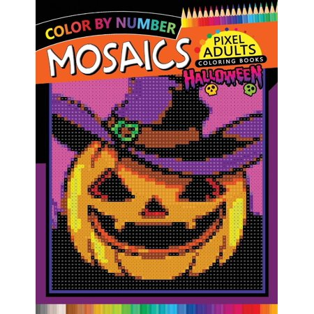 Halloween Mosaics Pixel Adults Coloring Books: Color by Number - Charlie Brown Halloween Printable Coloring Pages