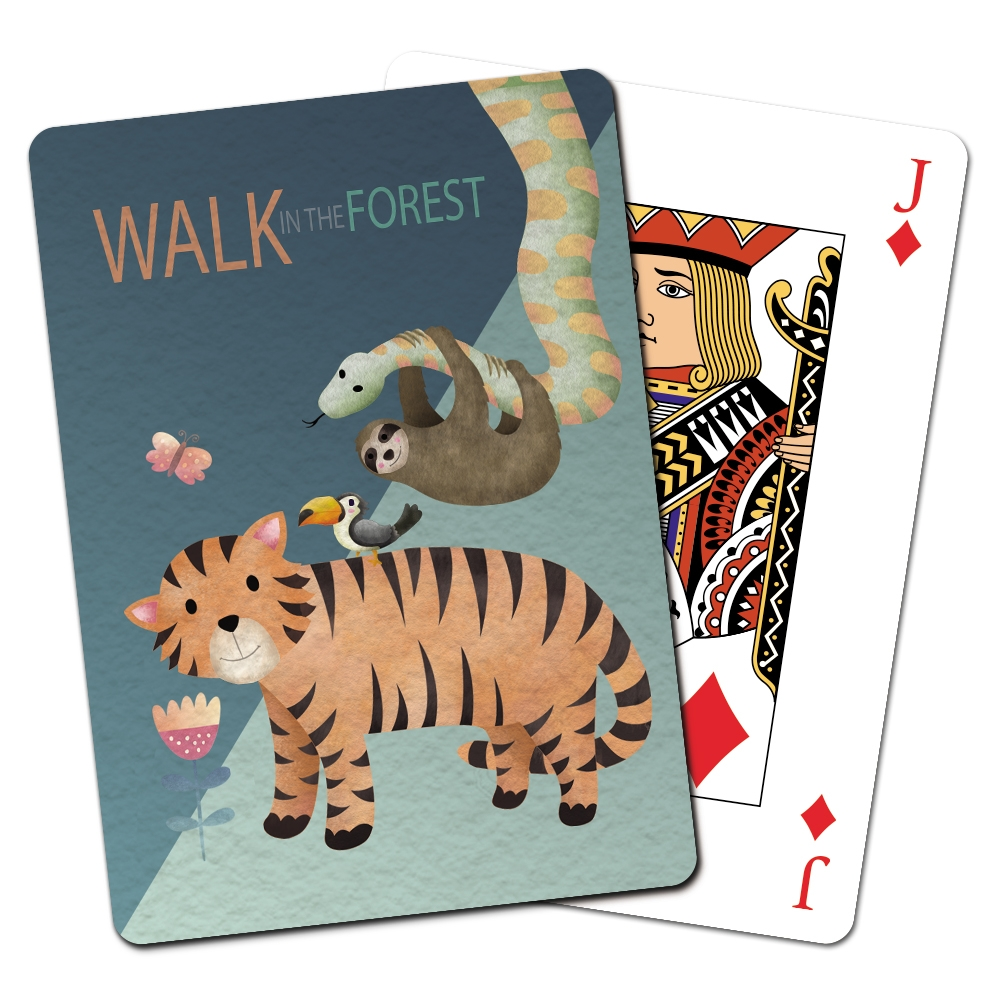 Tree-Free Greetings Tiger and Friends Playing Cards -CD15411