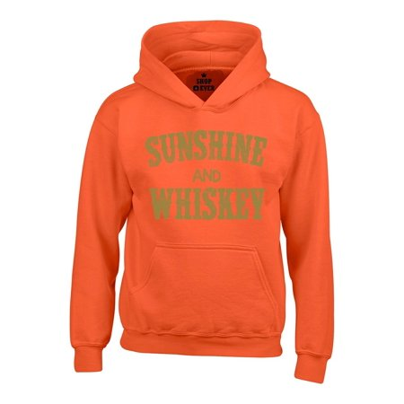 Shop4Ever Men's Whiskey and Sunshine Gold Drinking Hooded Sweatshirt Hoodie