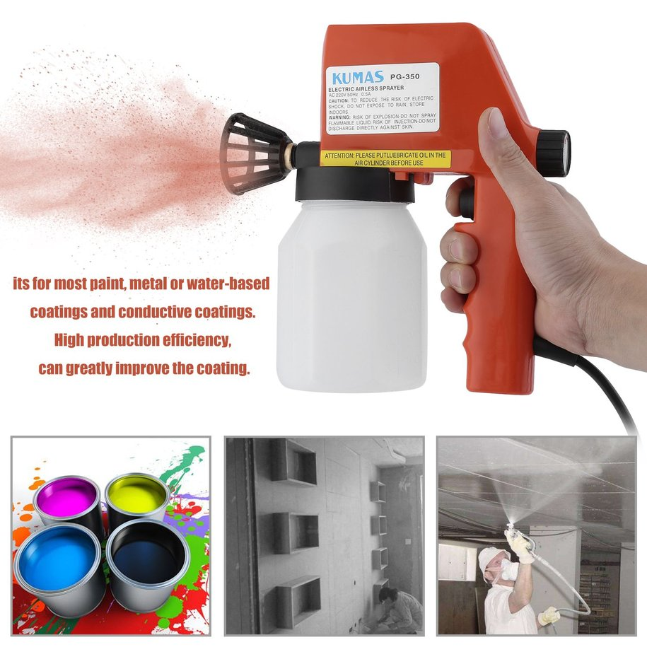 Portable Electric Air Less Sprayer Gun House Wall Fence Hand Painting Tool
