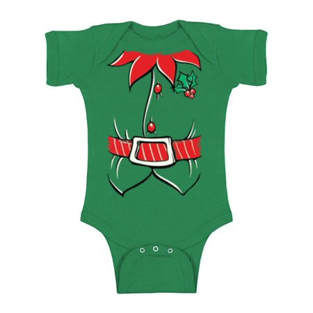 One Infant Bodysuit (Awkward Styles Baby Christmas Holiday One Piece Kids Christmas Outfit Christmas Baby Outfit Infant Bodysuit Santa's Helper Onepiece Baby First Christmas Clothes Baby Boy Baby Girl )