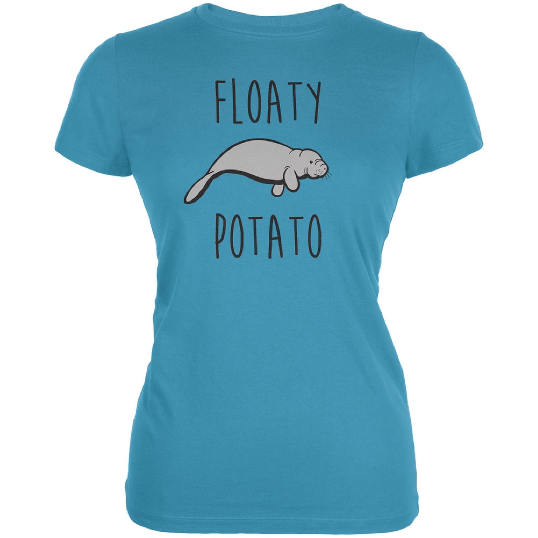 Floaty Potato Manatee Aqua Juniors Soft T-Shirt