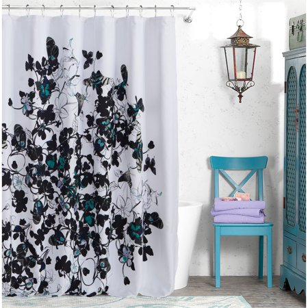 Abby 72 in. W x 72in. L Polyester Shower Curtainin Abby Shower Curtain