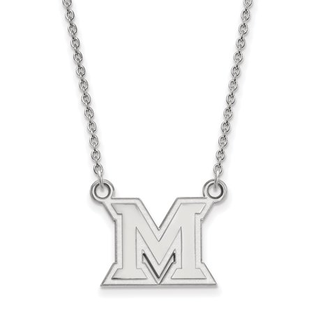 Roy Rose Jewelry Sterling Silver Logoart Miami University Small Pendant Necklace