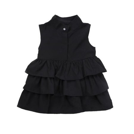 Infant Toddler Girls Sleeveless Ruffle Layered Shirt Dress Tunic Dress - Girls Tunic Dresses