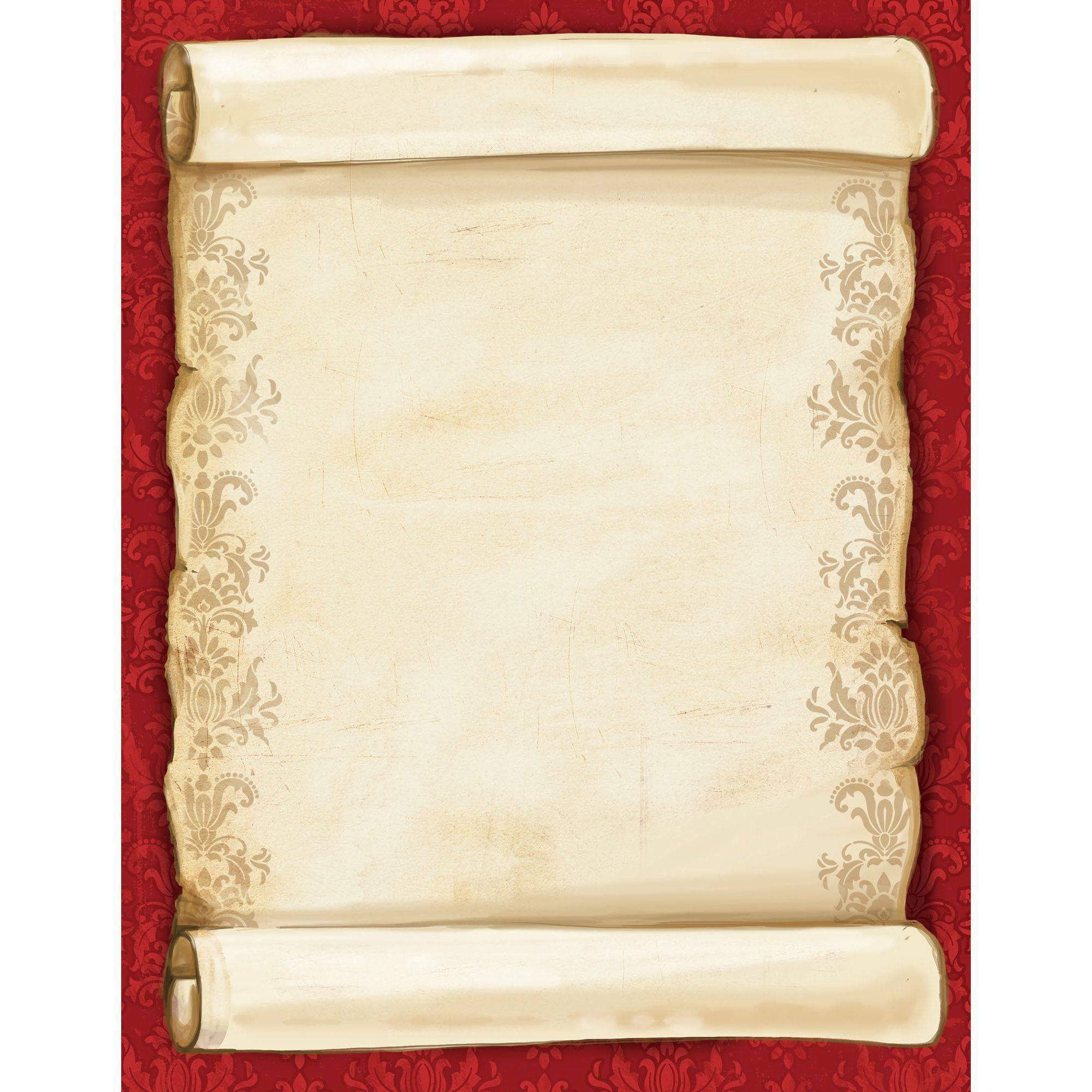 Great Papers Christmas Scroll Letterhead 80 count Walmartcom