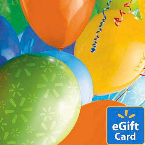 Birthday Balloons Walmart eGift Card