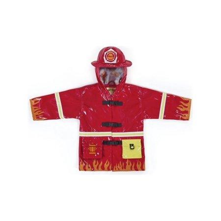 - Kidorable Little Boys Red Fireman Pockets Helmet Hooded Rain Coat 2T-6X