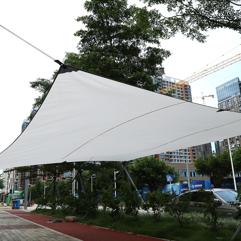 Sand Sun Shade Sail Sunscreen Rectangle Awning Canopy Outdoor Garden Patio 4.5*5m (Beige)