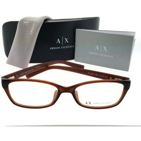 Armani Exchange AX3009F-8063-53 Rectangular Women's Brown Frame Eyeglasses (Armani Exchange Eyeglasses Frames)