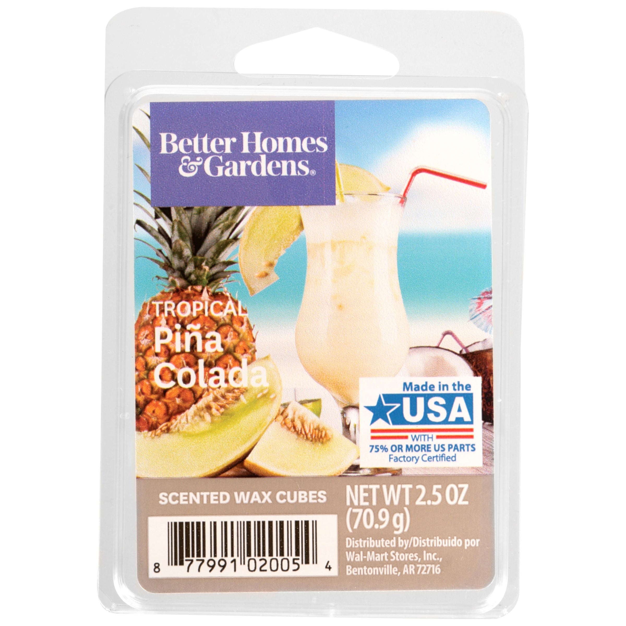 Tropical Pina Colada Scented Wax Melts, Better Homes & Gardens, 2.5 oz