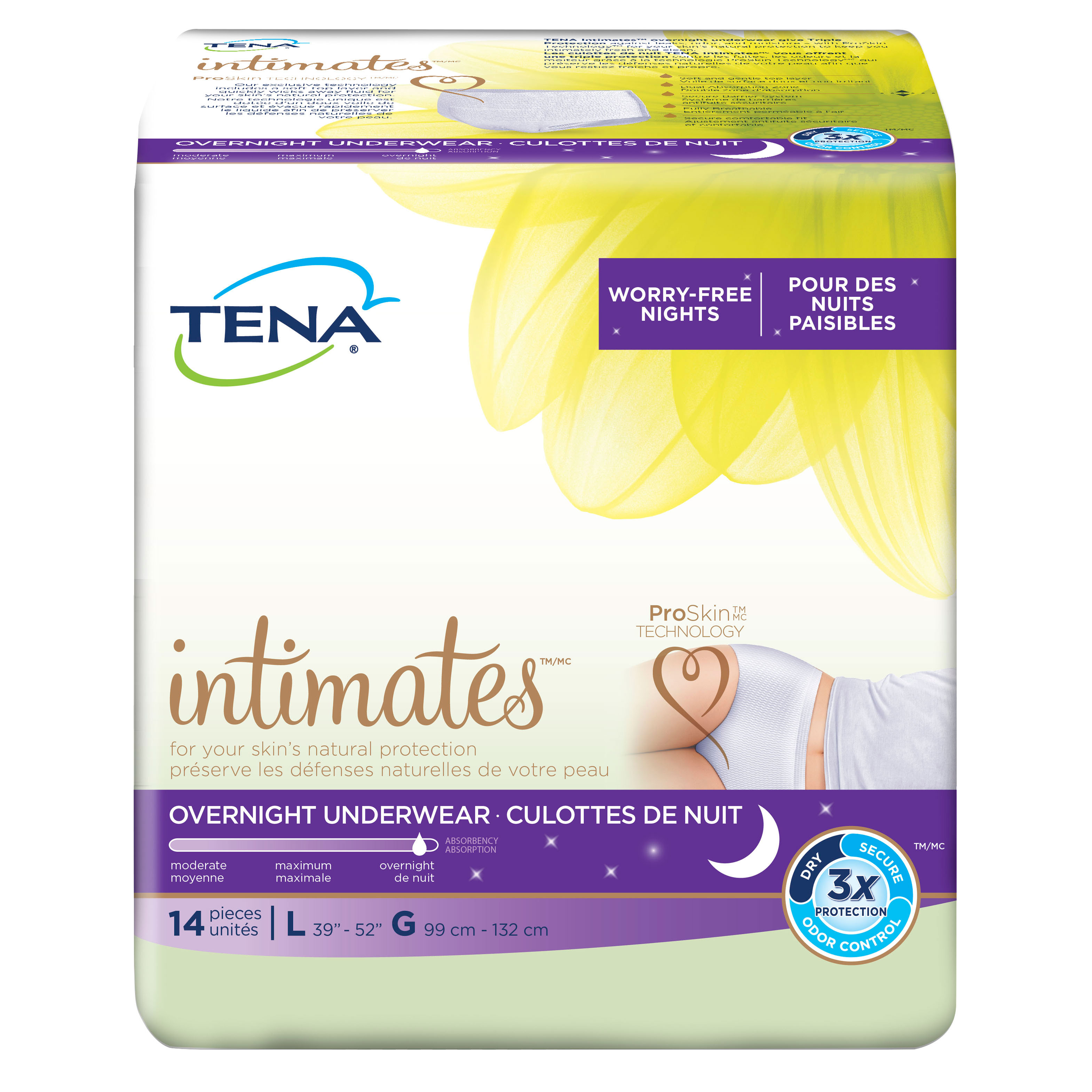 Tena Incontinence Underwear For Women, For Overnight, Large, 14 Count