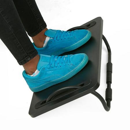 Mind Reader Tilting Ergonomic Foot Rest, Smooth Surface, Adjustable Angles, Black ()