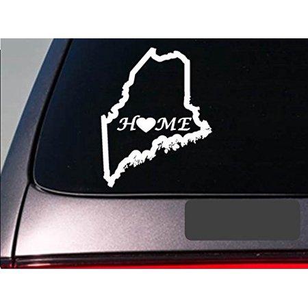 "Maine home 6"" sticker *E677* state outline home map decal vinyl"