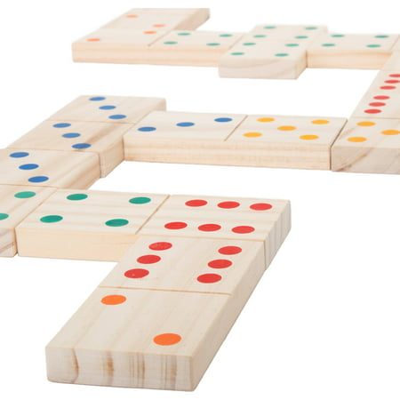 - Hey! Play! Giant Wooden Dominoes Set