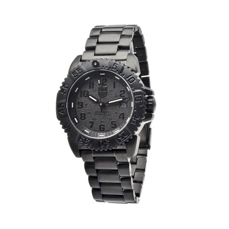 LUMINOX Sea Steel Colormark 3150 Series, Black Bracelet, Round Black Dial, Men's Watch A.3152.BO