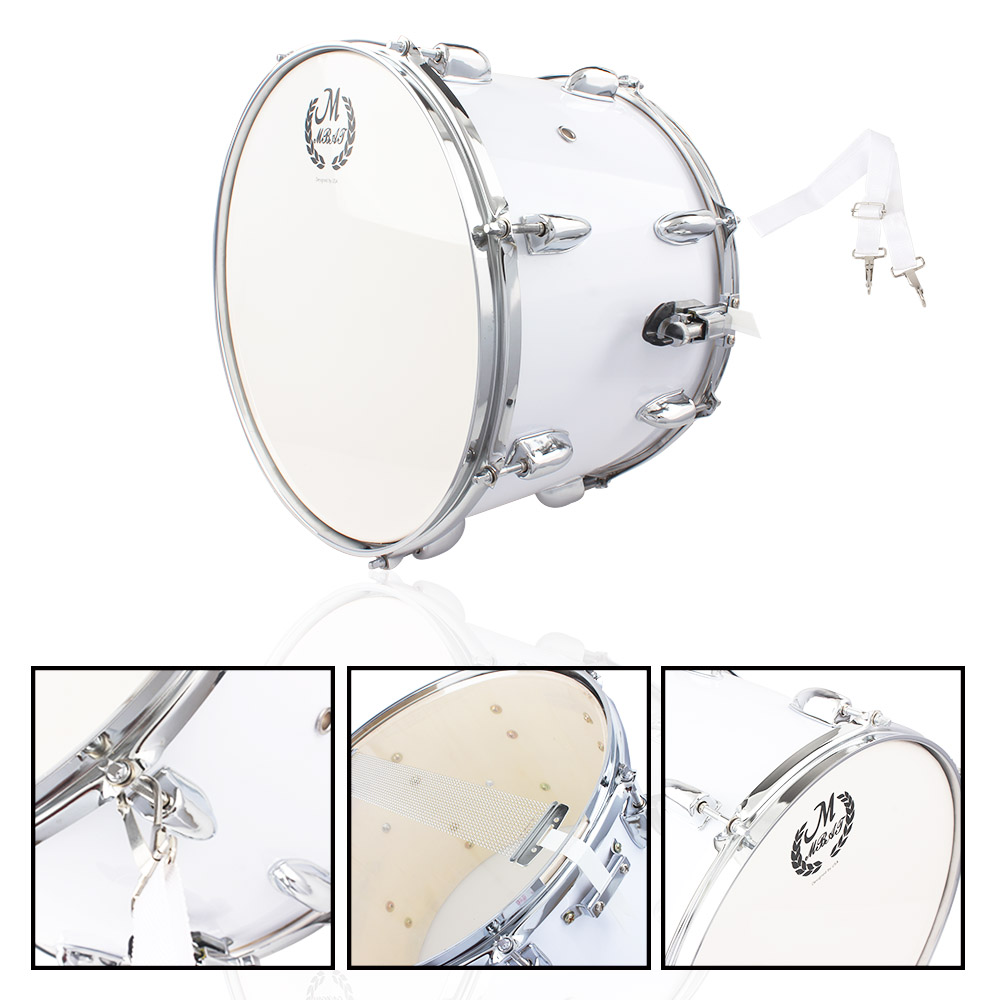 Zimtown Stainless Steel & Wood Marching Snare Drum Percussion Poplar SilverInstrument Accessories