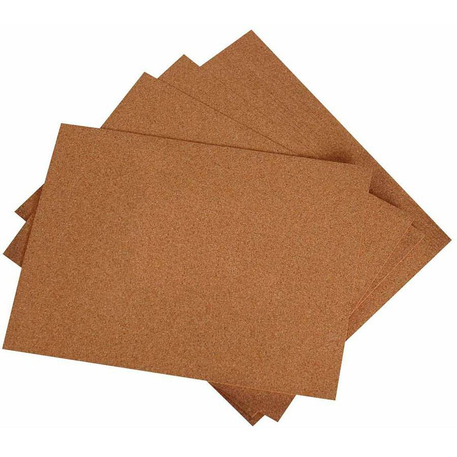 "Hygloss Cork Sheet, 8.5"" x 11"" x 0.06"", 12pk"