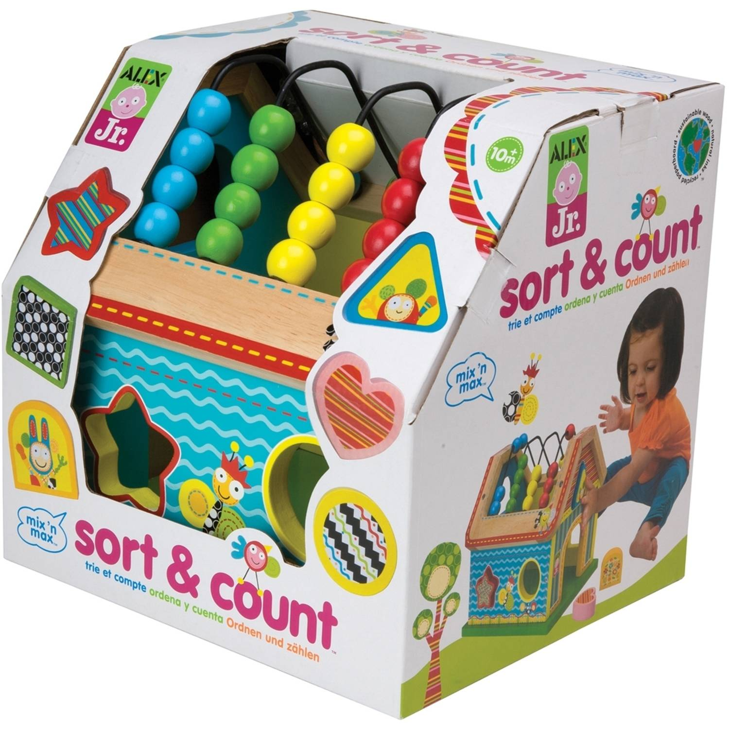 ALEX Toys ALEX Jr. Sort and Count Baby Wooden Developmental Toy
