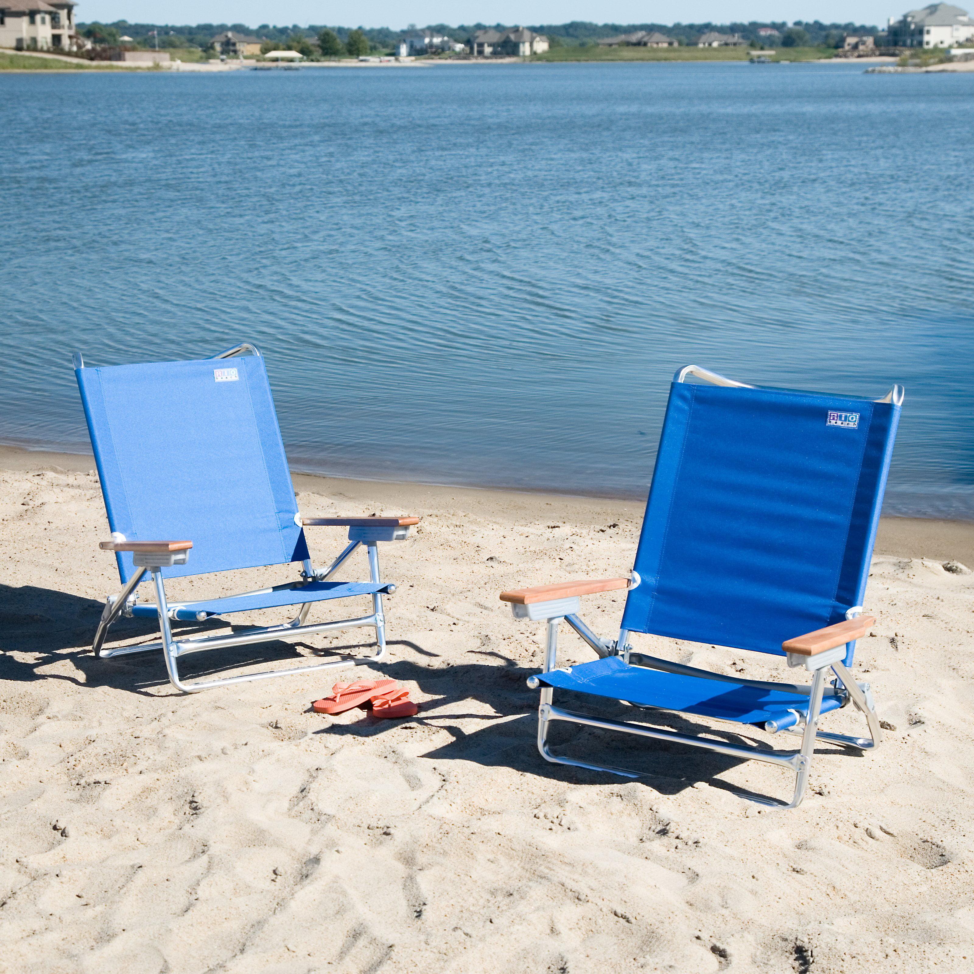 Rio Blue Deluxe Beach Chair Set of 2 Walmart