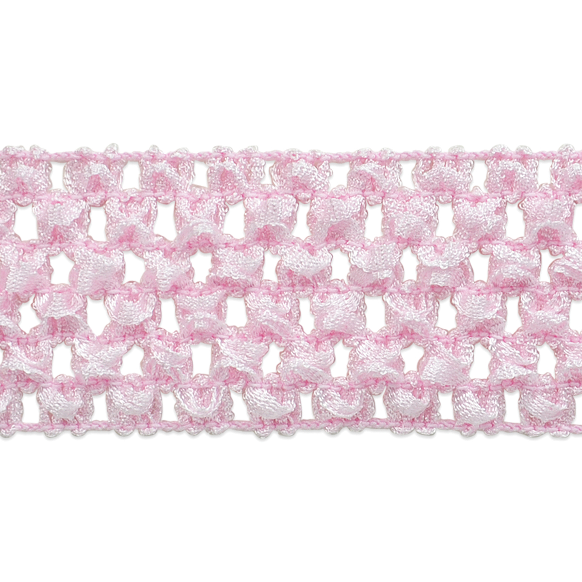 "Crochet Headband Stretch Trim 1-3/4""X20yd-Pink"