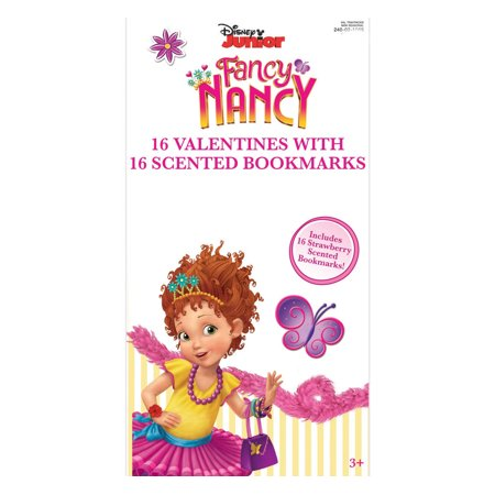 Fancy Nancy 16 Valentine Cards with Scented Bookmarks