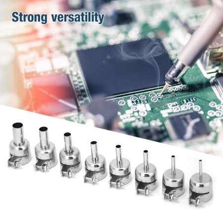 YLSHRF Heat Gun Nozzle,8 Pcs Stainless Steel Hot Air Gun Nozzle Heat Resisting Nozzle for 850 Heat Gun 3~12mm ,Circular Hot Gun Nozzle