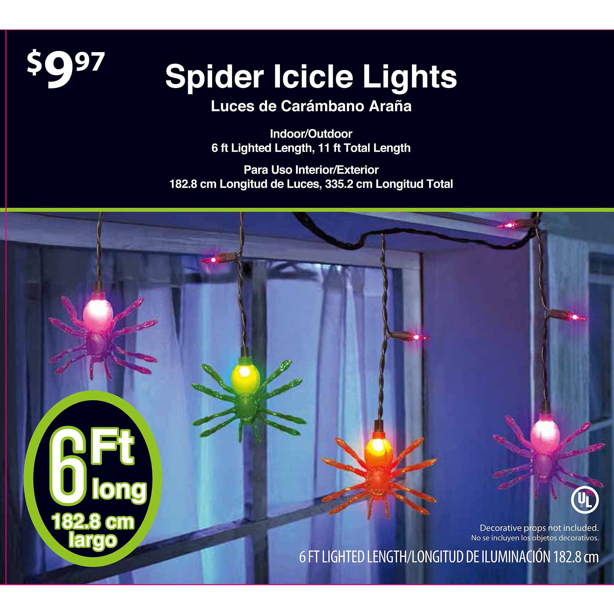 35 count dangling spider halloween lights walmartcom