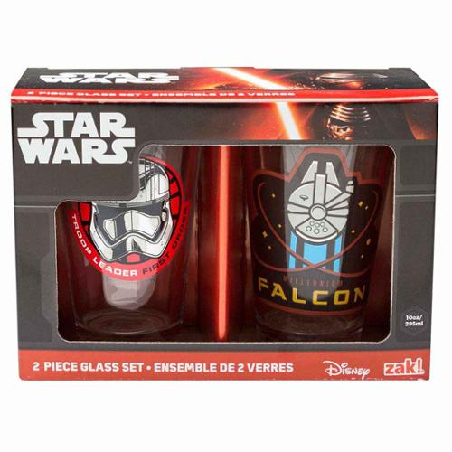 Star Wars: The Force Awakens 10 oz. Glass Tumbler Set of 2