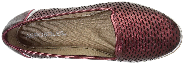 Aerosoles Womens Smart Move Leather Closed Toe Slide Flats