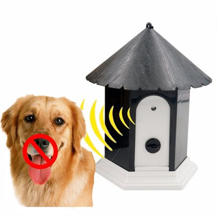 Fysho Large Size Anti Barking Device, Outdoor Ultrasonic Bark Control, Sonic Bark Deterrents,Waterproof Dog Bark Controller in Birdhouse