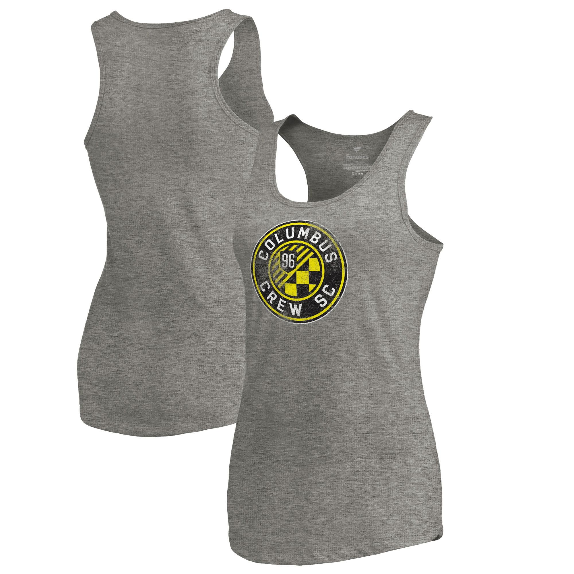 Columbus Crew SC Fanatics Branded Women's Distressed Primary Logo Tri-Blend Tank Top - Heathered Gray