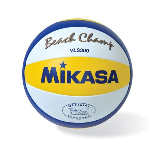 Mikasa VLS300 Championship Outdoor Volleyball, Yellow/White/Blue