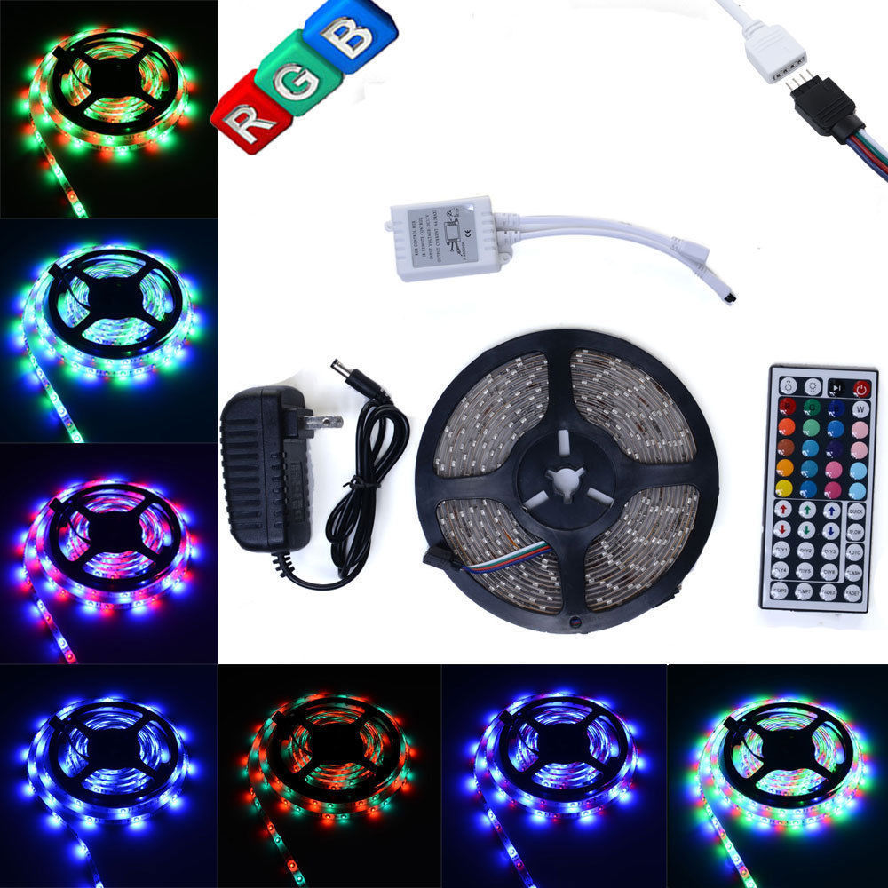Ktaxon 16.4Ft 300 LED SMD3528 RGB Light Strip Kit Set