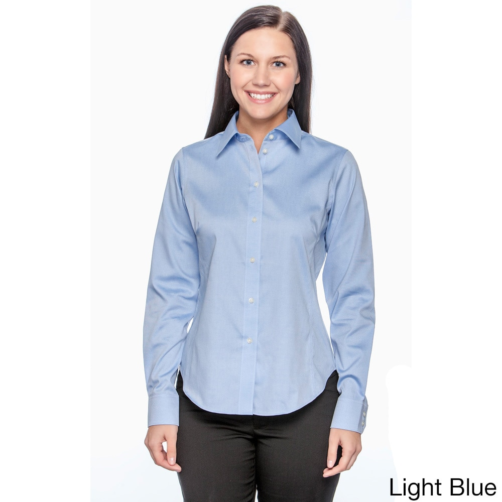 9e80cce9d64 Chestnut Hill - Chestnut Hill Women s Executive Performance Pinpoint Oxford  Shirt - Walmart.com