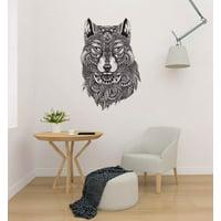 "Wolf Ethnic Design Beautiful - Wall Decal Wall Decoration Sticker Sticker 22"""