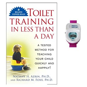 Toilet Training in Less Than A Day Guide Book with Potty Watch Trainer, Pink by Potty Train Quickly
